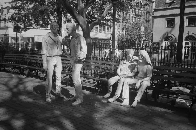 Monumento a los 1967 alborotos de Stonewall en Nueva York fotos de archivo libres de regalías