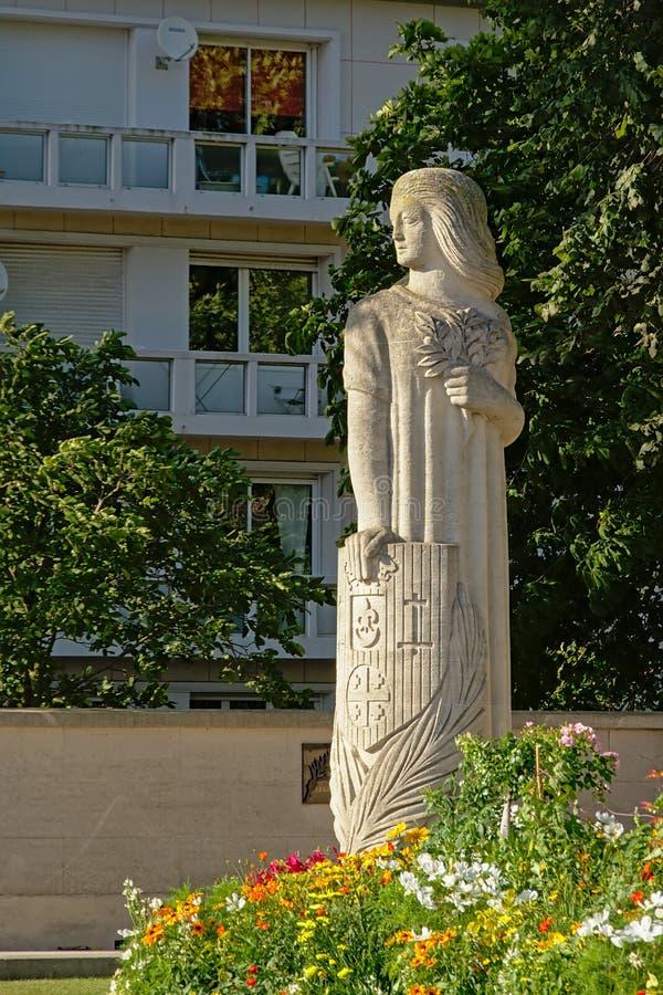 Monumento a los ciudadanos de Calais que murieron por Francia imágenes de archivo libres de regalías