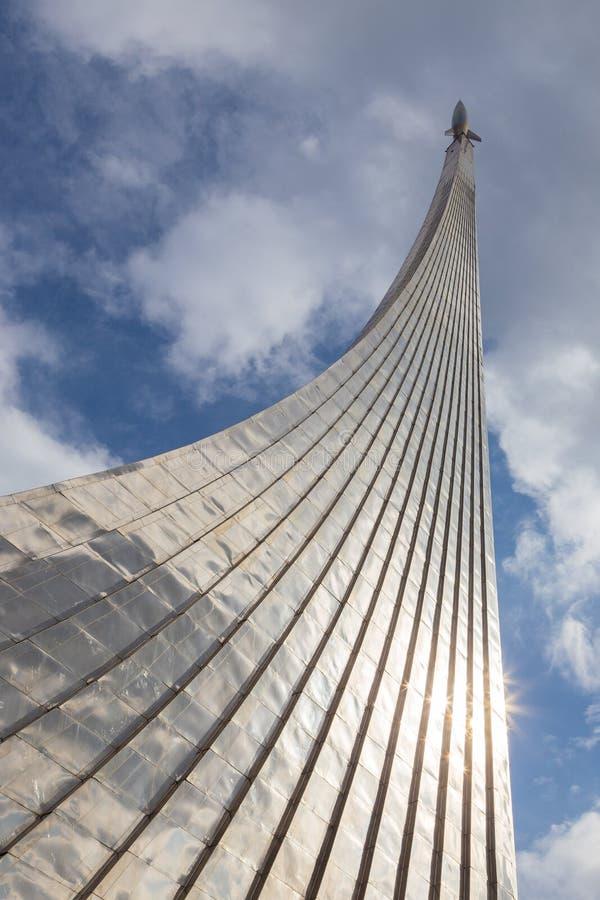 Monumento a los conquistadores del espacio, Mosc?, Rusia fotos de archivo