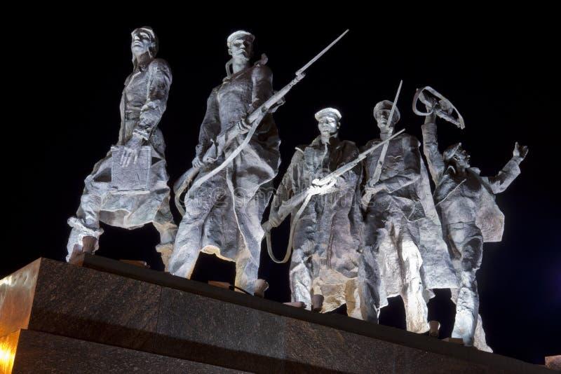 Monumento a los defensores heroicos de Leningrad fotografía de archivo
