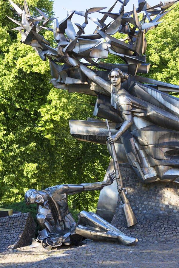 Monumento a los defensores polacos de los posts, Gdansk, Polonia imagen de archivo libre de regalías