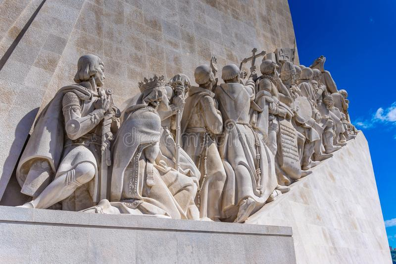 Monumento a los descubrimientos en Belem portugal foto de archivo