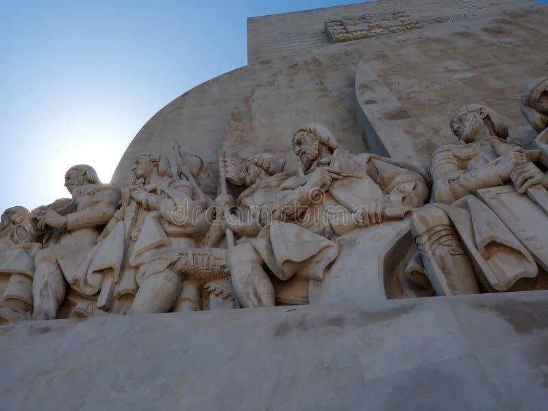 Monumento a los descubrimientos en Libon en Portugal fotos de archivo libres de regalías