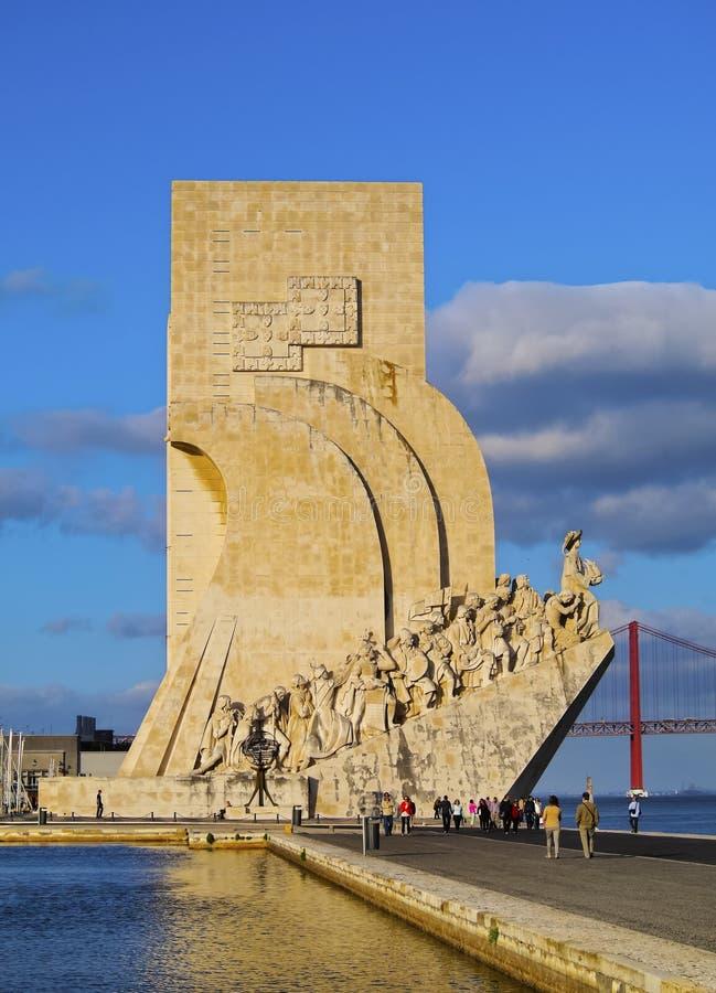 Monumento a los descubrimientos en Lisboa fotos de archivo libres de regalías