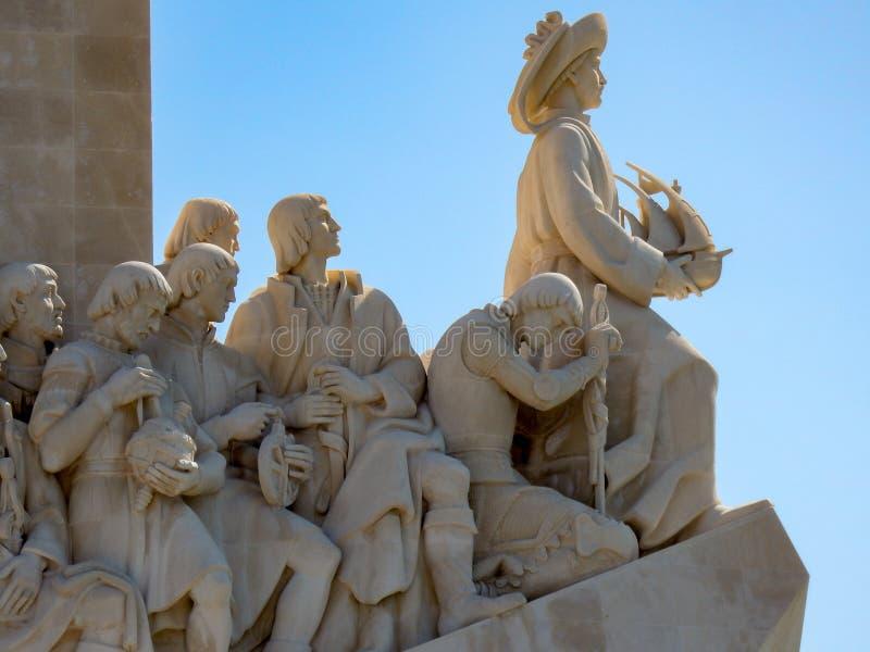 Monumento a los descubrimientos en Lisboa, Portugal imagen de archivo libre de regalías