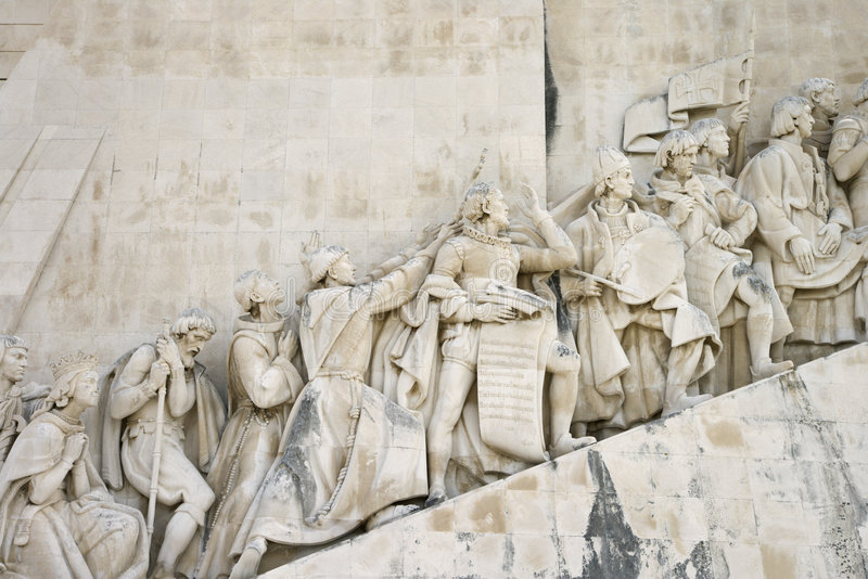 Monumento a los descubrimientos en Portugal. foto de archivo