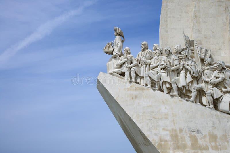 Monumento a los descubrimientos en Portugal. imagenes de archivo