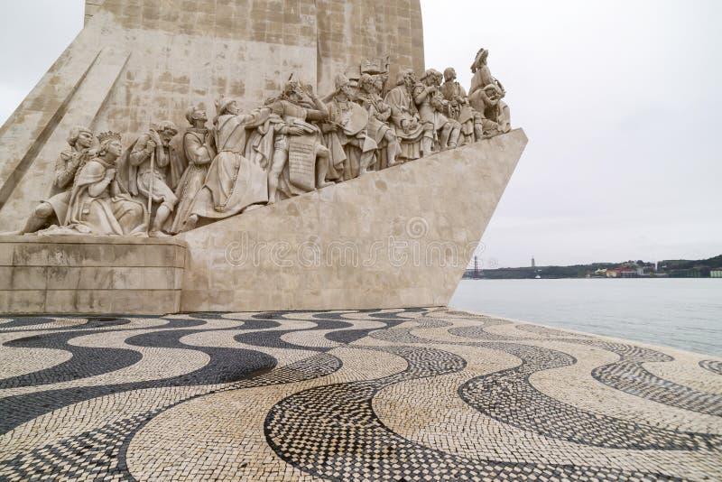 Monumento a los descubrimientos lisboa fotografía de archivo