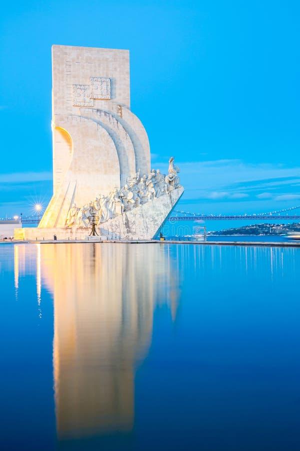 Monumento a los descubrimientos Lisboa foto de archivo