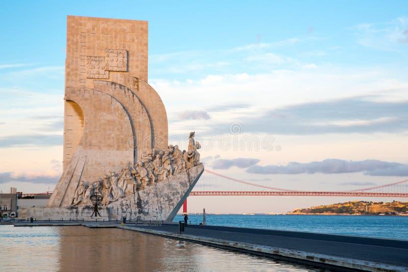 Monumento a los descubrimientos Lisboa imagen de archivo