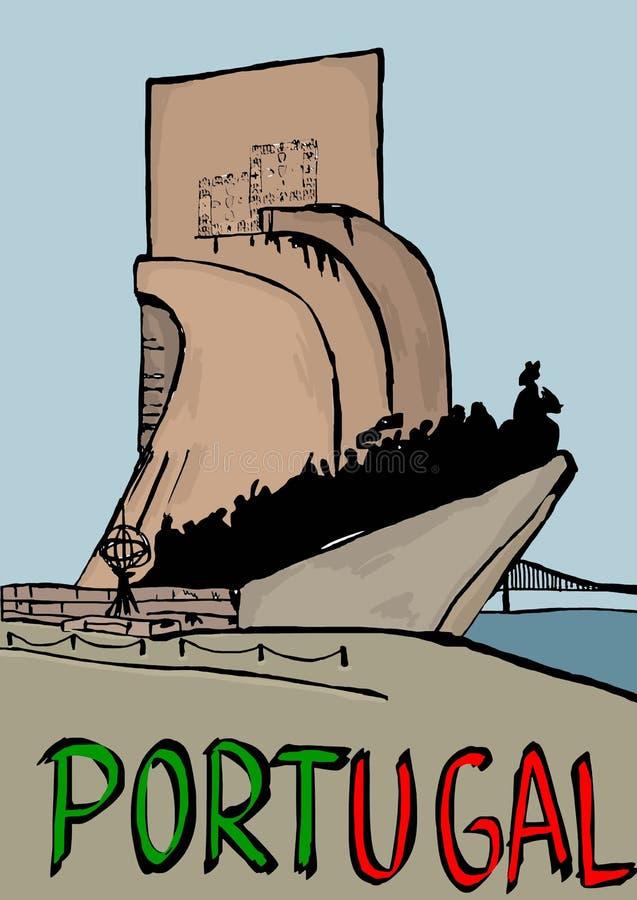 Monumento a los descubrimientos portugal ilustración del vector