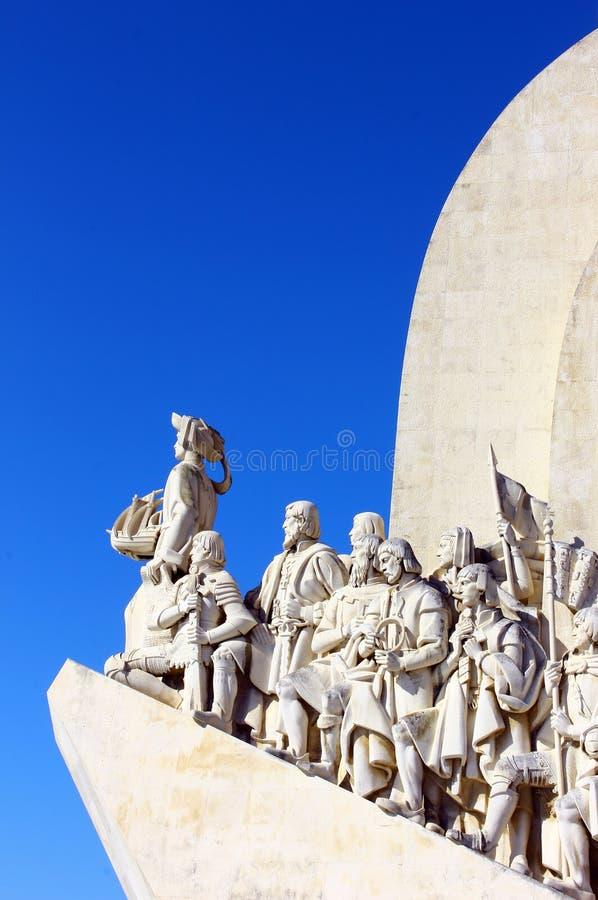 Monumento a los descubrimientos portugueses del mar, Lisboa foto de archivo