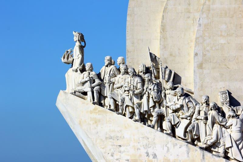 Monumento a los descubrimientos portugueses del mar, Lisboa fotografía de archivo