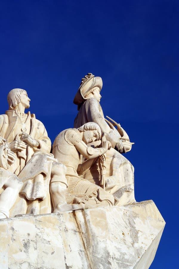 Monumento a los descubrimientos portugueses del mar, Lisboa, Portugal foto de archivo libre de regalías