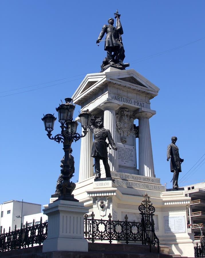 Monumento a los héroes de Iquique, Valparaiso, Chile imágenes de archivo libres de regalías