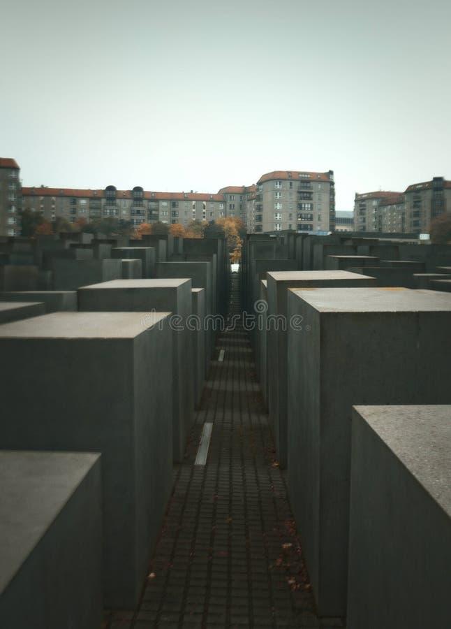 Monumento a los judíos asesinados de Europa imagen de archivo