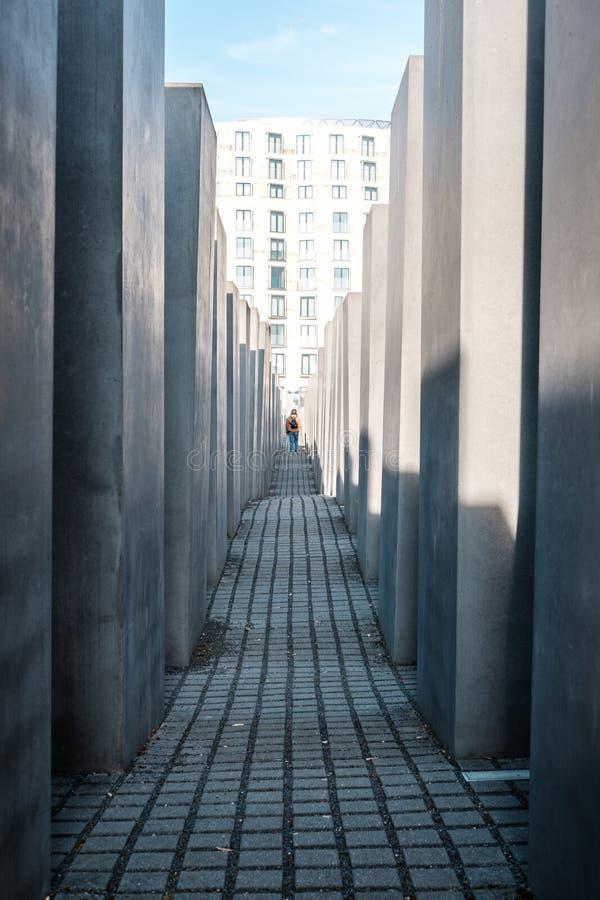 Monumento a los judíos asesinados de Europa K A Monumento de Hocolcaust en Berlín, Alemania foto de archivo