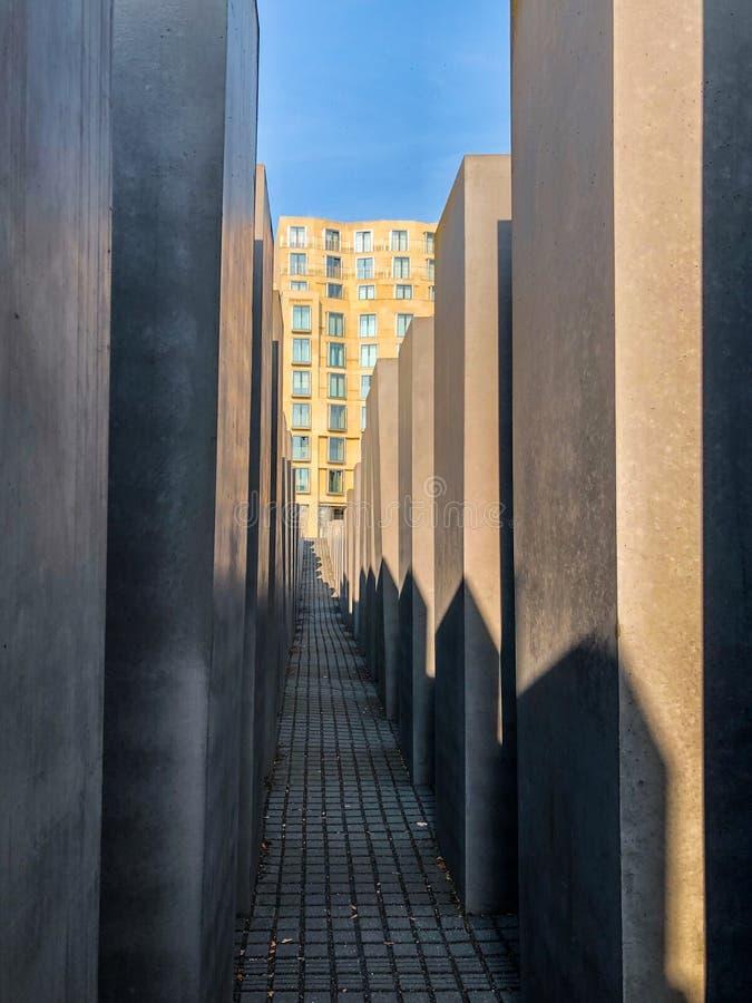 Monumento a los judíos asesinados de Europa K A Memori de Hocolcaust fotos de archivo libres de regalías