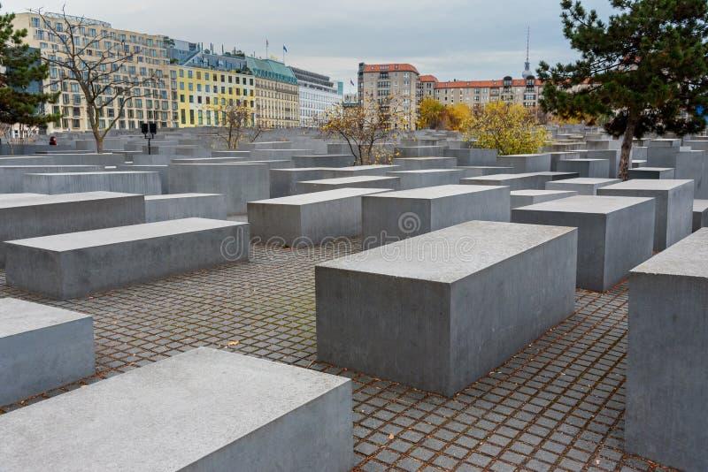 Monumento a los judíos asesinados del monumento de Europa o del holocausto berl?n alemania imágenes de archivo libres de regalías