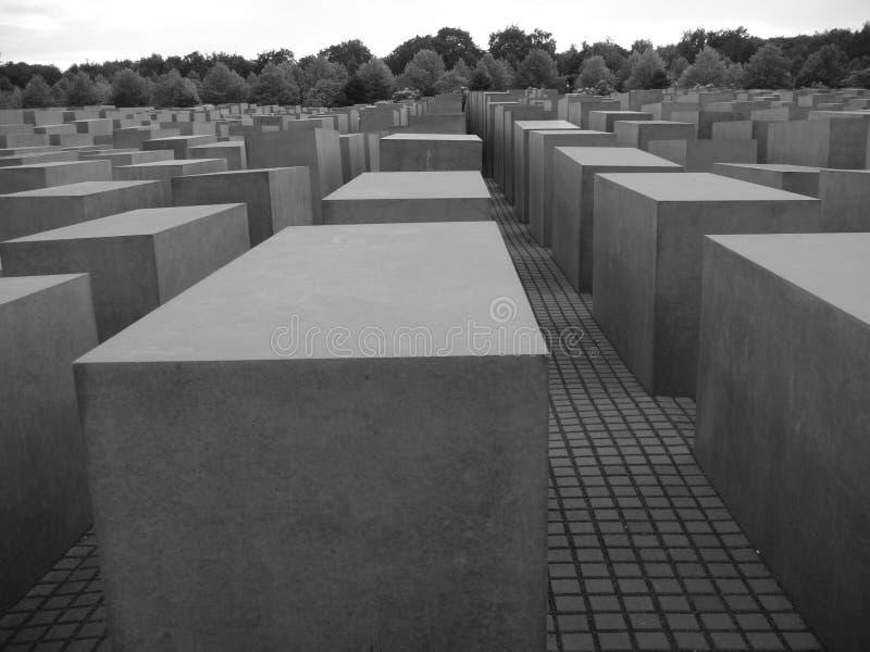 Monumento a los jud?os asesinados de Europa imagen de archivo
