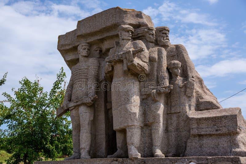Monumento a los partidarios que lucharon contra fascismo en Odessa fotos de archivo libres de regalías