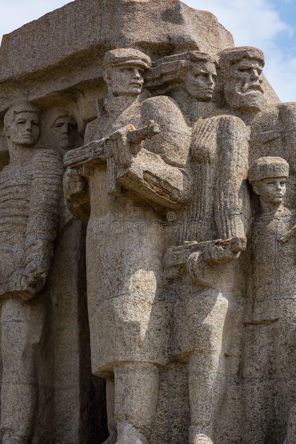 Monumento a los partidarios que lucharon contra fascismo en Odessa imágenes de archivo libres de regalías