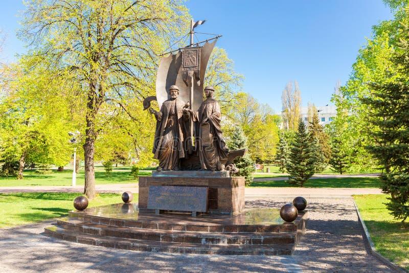 Monumento a los santos ortodoxos rusos Peter y Fevronia de MU fotos de archivo libres de regalías