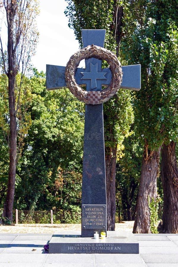 Monumento a los soldados croatas matados en la Segunda Guerra Mundial fotografía de archivo libre de regalías
