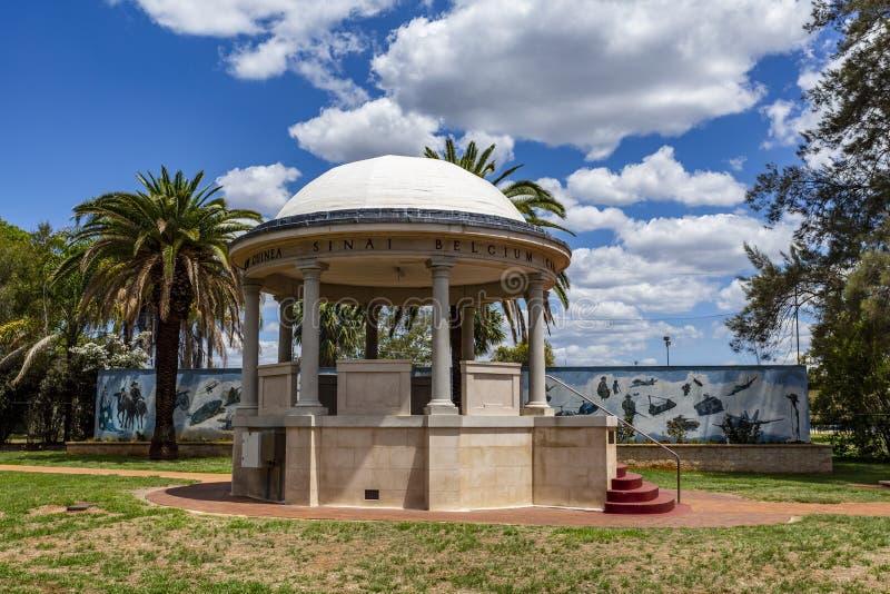 Monumento a los soldados de Kingaroy Rotunda fotos de archivo libres de regalías