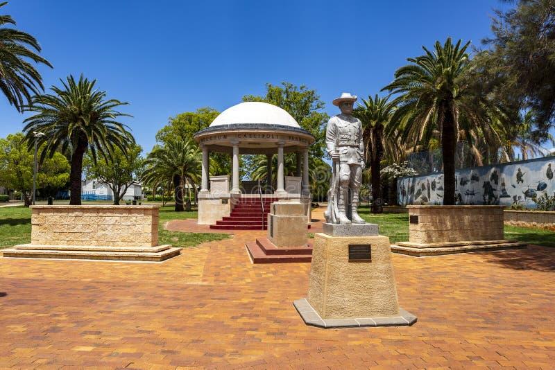 Monumento a los soldados de Kingaroy Rotunda fotos de archivo