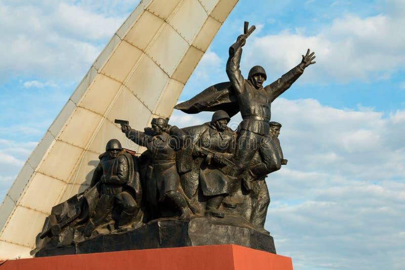 Monumento a los soldados soviéticos foto de archivo libre de regalías