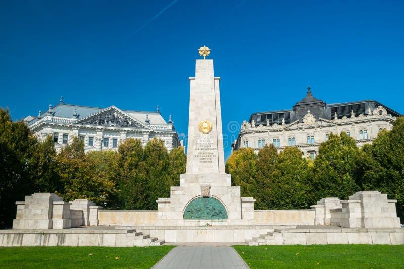 Monumento a los soldados soviéticos, Budapest foto de archivo libre de regalías