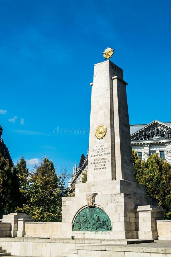 Monumento a los soldados soviéticos, Plaza de la Victoria, Budapest imagenes de archivo