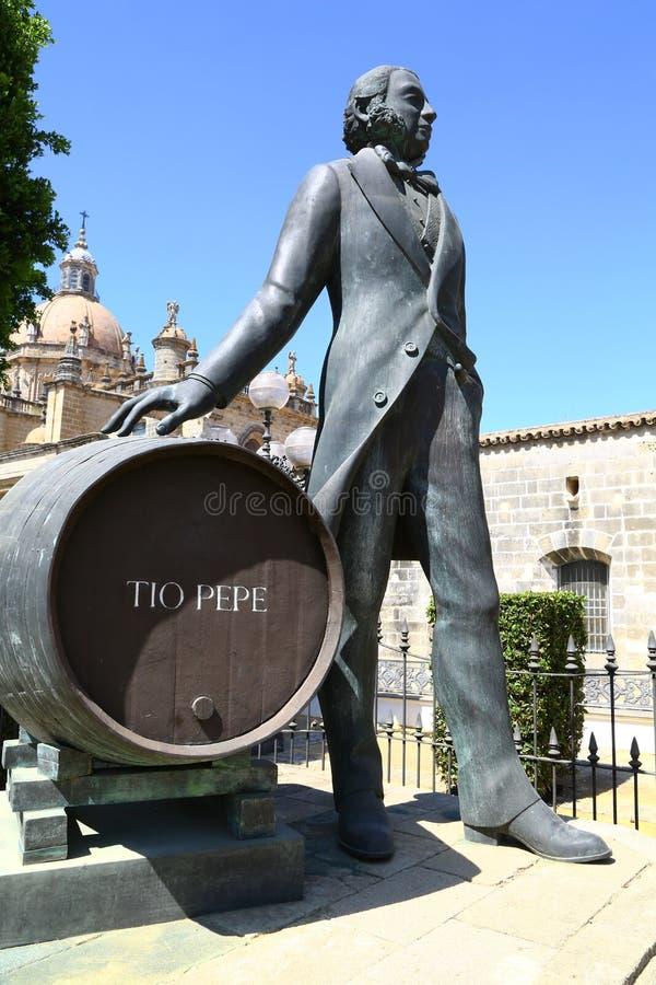 Monumento a Manuel Maria Gonzalez en Jerez, España fotos de archivo