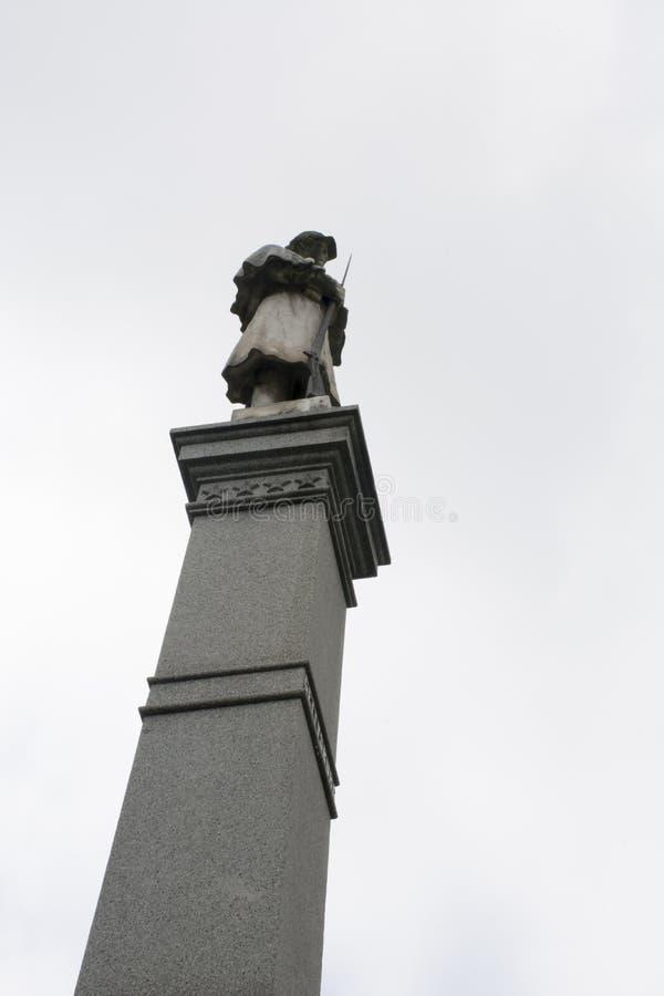 Monumento Marietta, Ohio della guerra civile fotografie stock libere da diritti