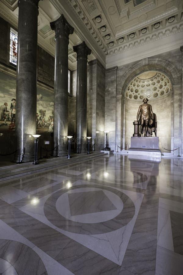 Monumento masónico nacional de George Washington imágenes de archivo libres de regalías