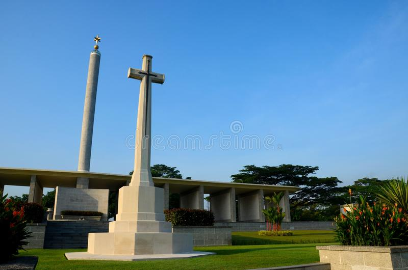 Monumento memorável Singapura de Kranji da comissão das sepulturas da guerra da comunidade foto de stock