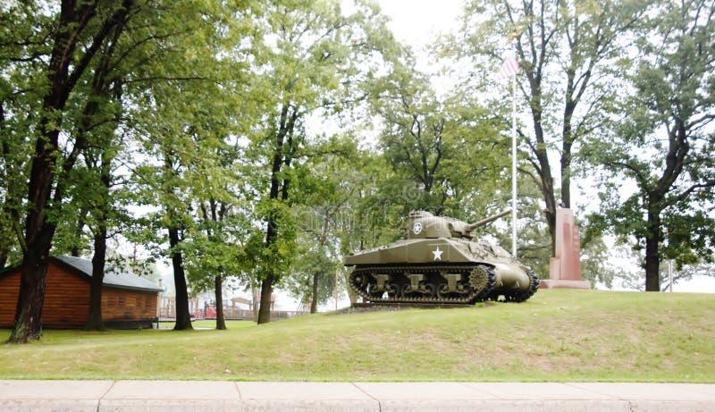 Monumento militar de la Segunda Guerra Mundial del estado de Michigan fotografía de archivo libre de regalías