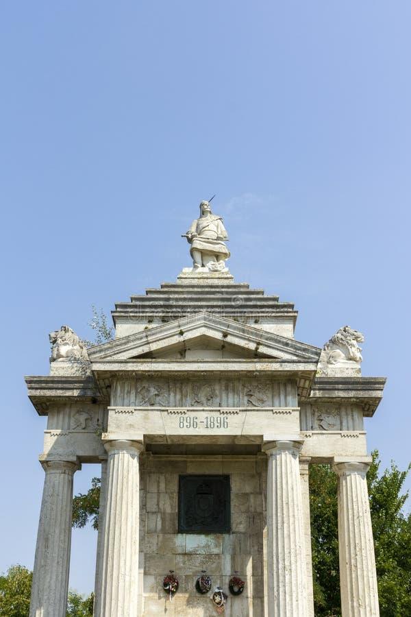 Monumento millenario di Arpad fotografia stock