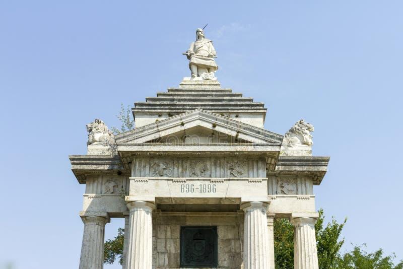 Monumento millenario di Arpad immagini stock libere da diritti