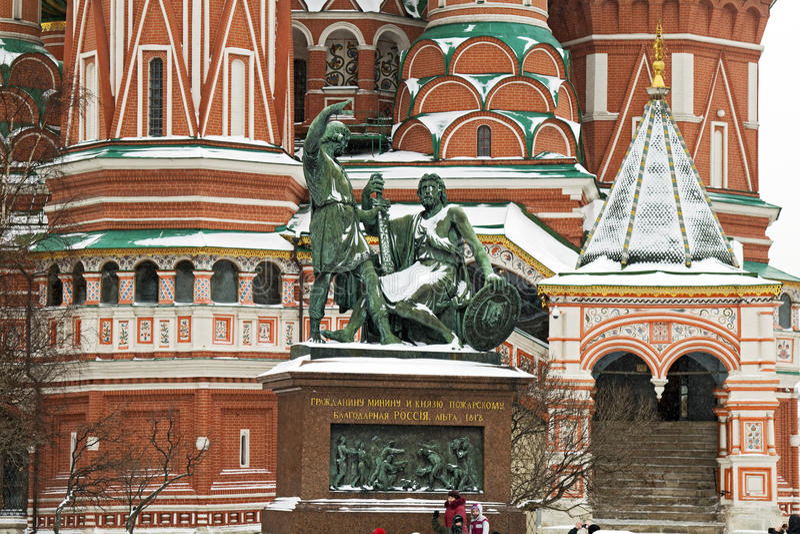 Monumento a Minin e a Pozharsky imagens de stock