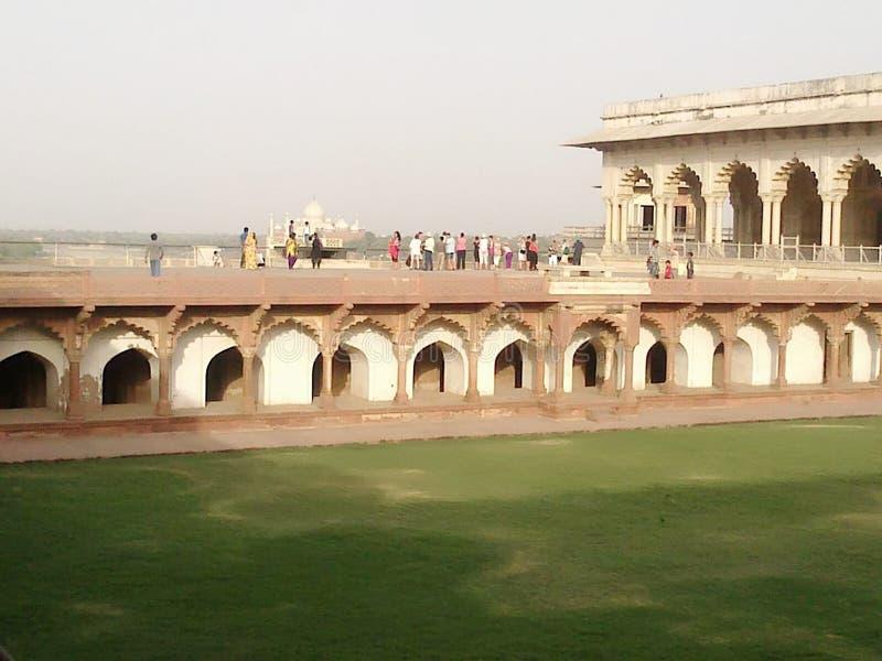 Monumento mugal histórico del emperador del fuerte de Agra foto de archivo libre de regalías