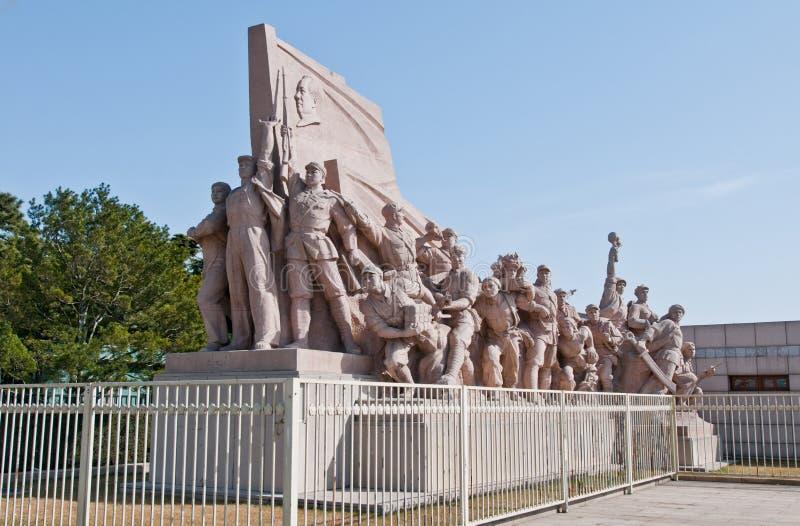 Monumento na Praça de Tiananmen fotografia de stock