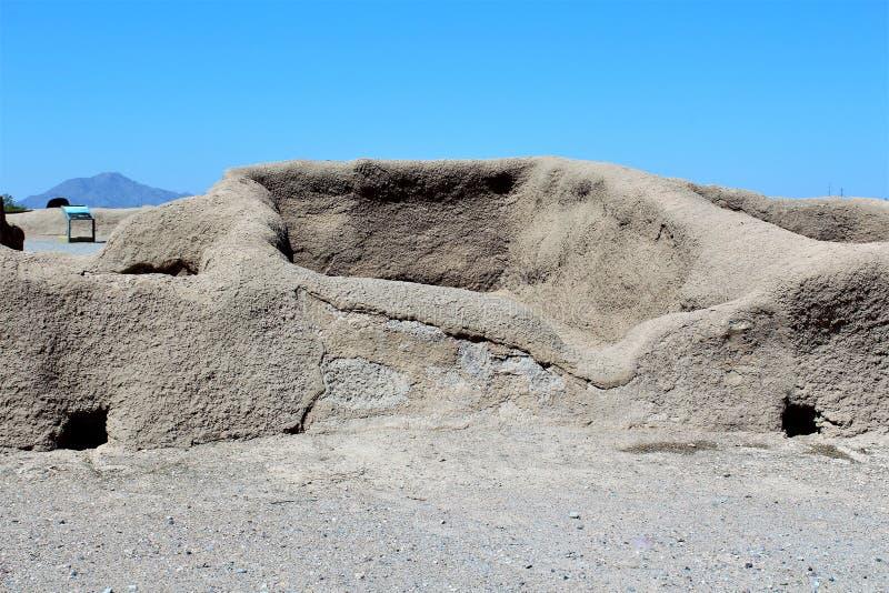 Monumento nacional Arizona de las grandes ruinas de la casa imagen de archivo