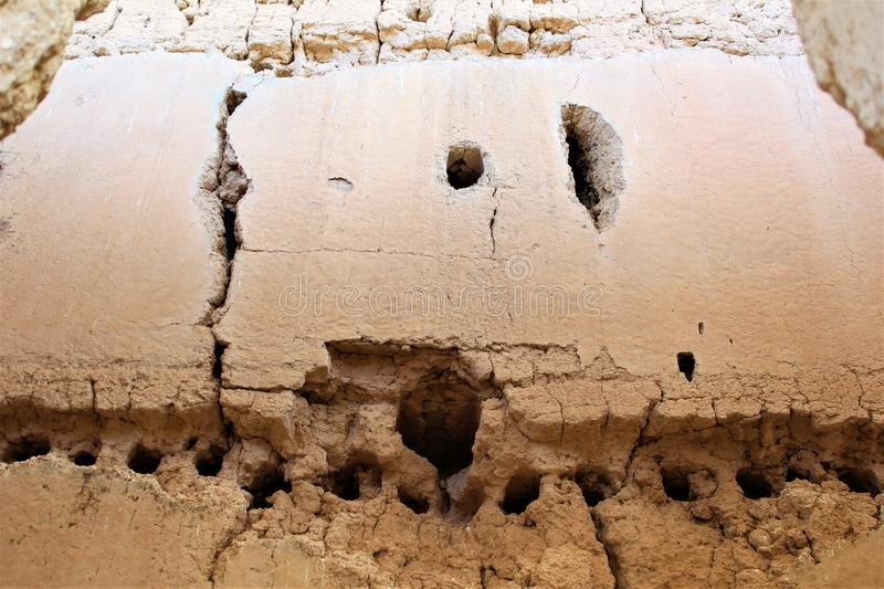 Monumento nacional Arizona de las grandes ruinas de la casa imagen de archivo libre de regalías
