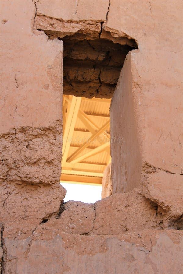 Monumento nacional Arizona de las grandes ruinas de la casa imágenes de archivo libres de regalías