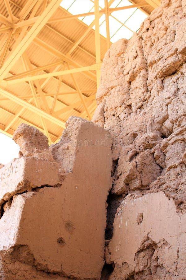 Monumento nacional Arizona de las grandes ruinas de la casa fotografía de archivo