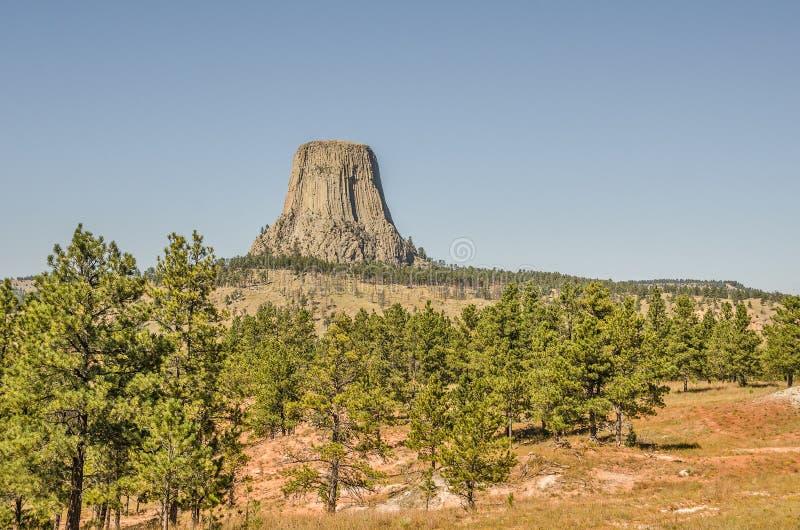 Monumento nacional da torre dos diabos imagens de stock royalty free