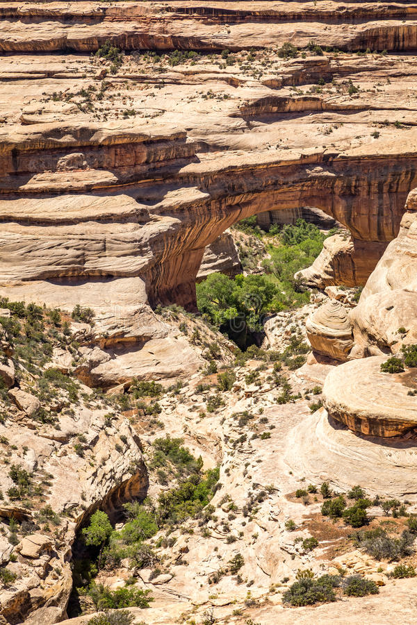 Monumento nacional das pontes naturais fotos de stock royalty free