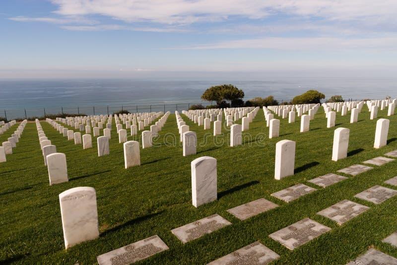Monumento nacional de Cabrillo del cementerio nacional de Rosecrans del fuerte imágenes de archivo libres de regalías